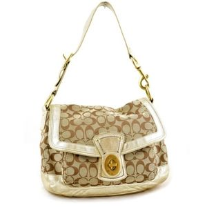 Coach Ali Legacy Signature Shoulder Bag